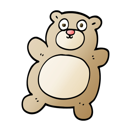 vector gradient illustration cartoon teddy bear 向量圖像