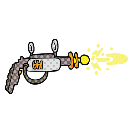 comic book style cartoon ray gun