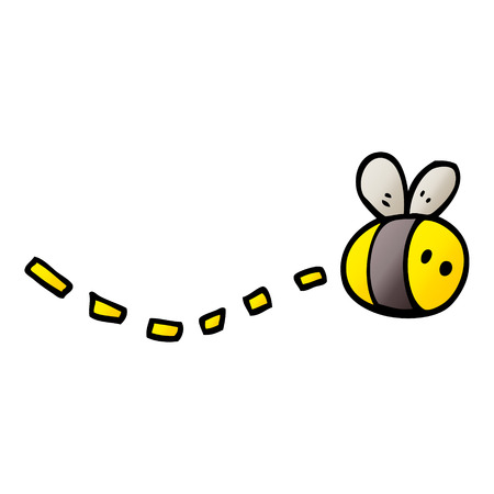 vector gradient illustration cartoon bee Иллюстрация