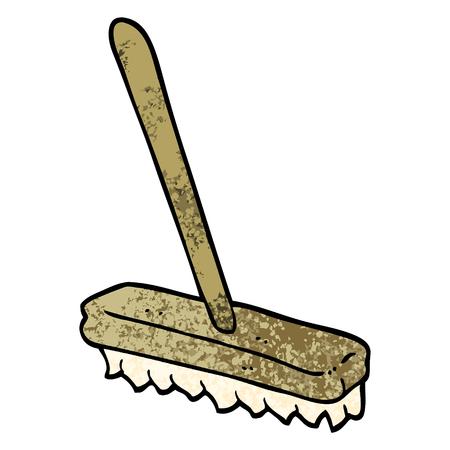 grunge textured illustration cartoon sweeping brush