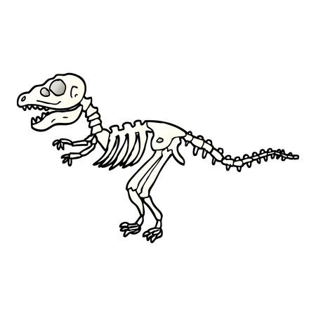 vector gradient illustration cartoon dinosaur bones