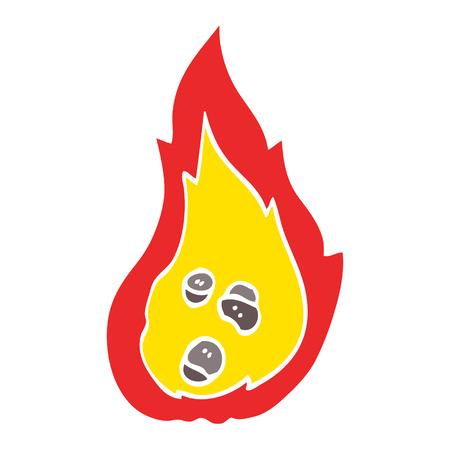 flat color illustration cartoon burning coals Illusztráció
