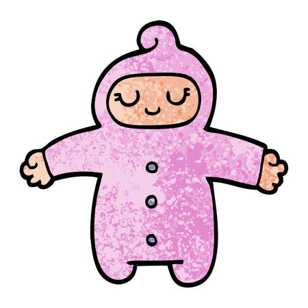 grunge texture illustrazione cartone animato baby