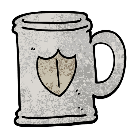 grunge textured illustration cartoon tankard