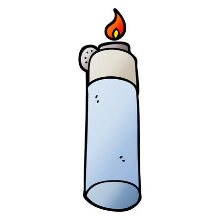vector gradient illustration cartoon cigarette lighter
