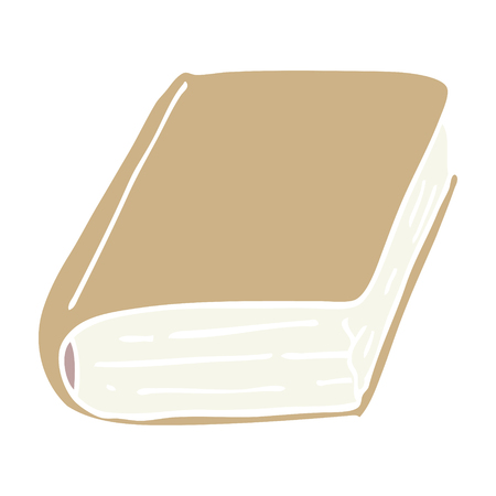 flat color illustration cartoon old book  イラスト・ベクター素材