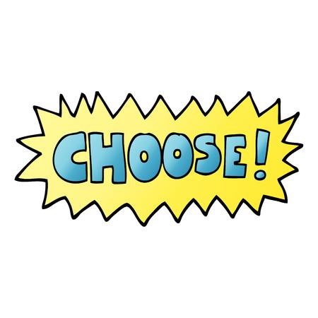 il fumetto dell'illustrazione di gradiente di vettore sceglie il simbolo Vettoriali