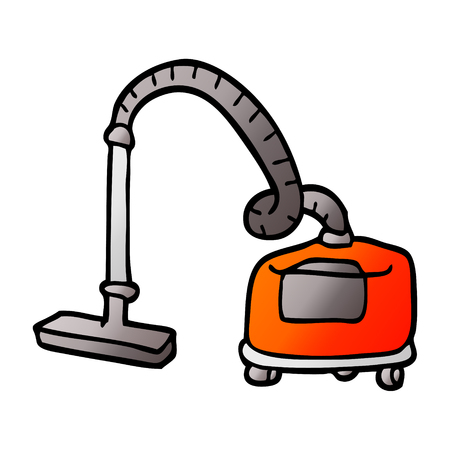 vector gradient illustration cartoon vacuum hoover  イラスト・ベクター素材