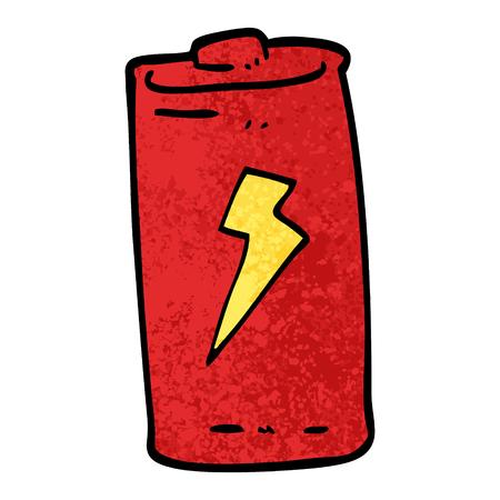 grunge textured illustration cartoon battery