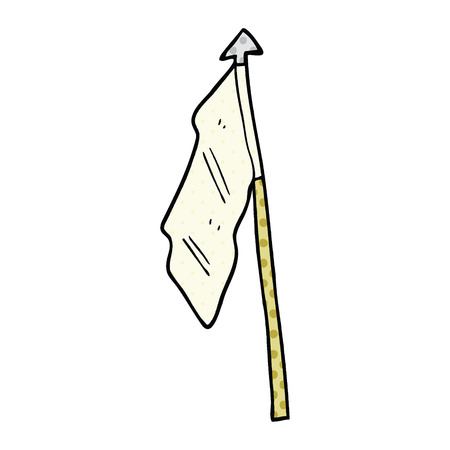 comic book style cartoon white flag