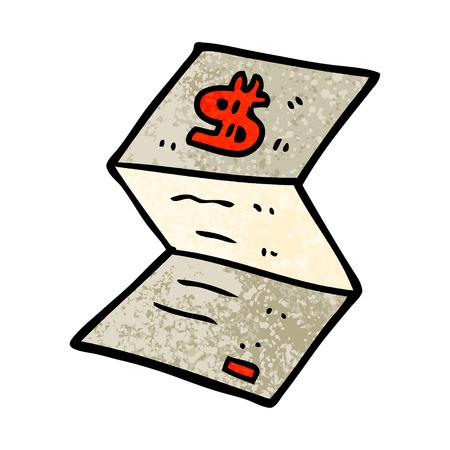 grunge textured illustration cartoon legal money letter