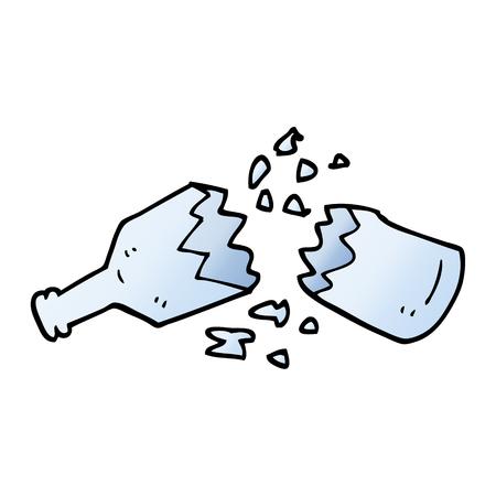 vector gradient illustration cartoon  smashed glass bottle Illustration
