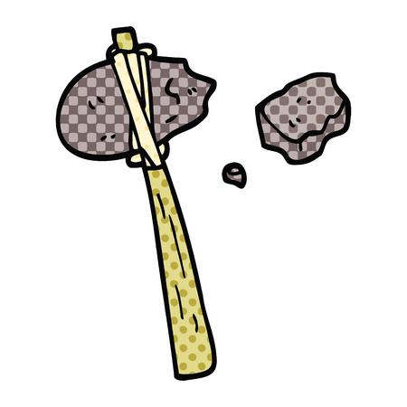 comic book style cartoon primitive tool Foto de archivo - 110313796
