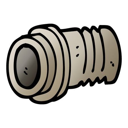 vector gradient illustration cartoon pipe fitting