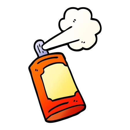 lata de aerosol de dibujos animados de ilustración de gradiente de vector