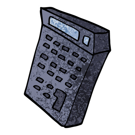 grunge textured illustration cartoon calculator 向量圖像