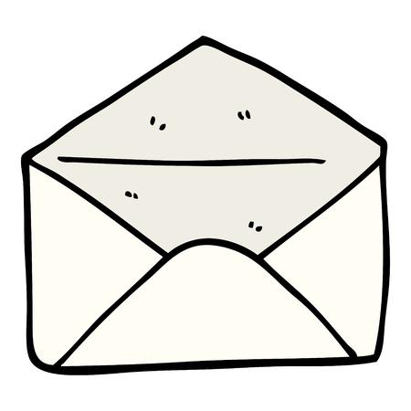 hand drawn doodle style cartoon envelope