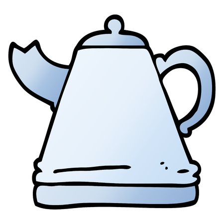 vector gradient illustration cartoon kettle 일러스트