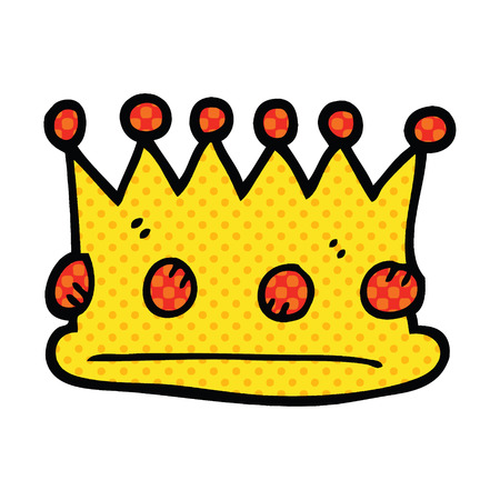 comic book style cartoon royal crown