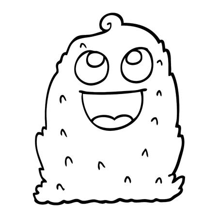 black and white cartoon lumpy ghost 向量圖像