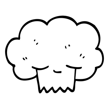 black and white cartoon explosion cloud