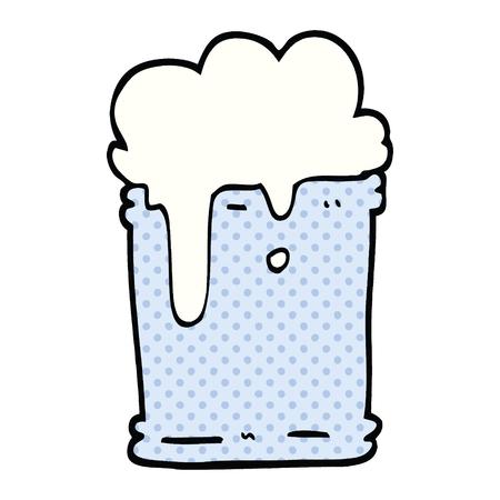 comic book style cartoon fizzy drink