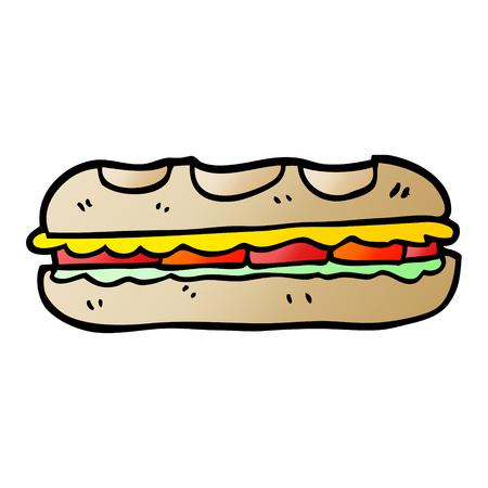 vector gradient illustration cartoon tasty sandwich Foto de archivo - 110359740
