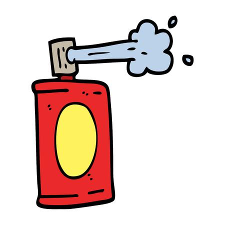 hand drawn doodle style cartoon spray can