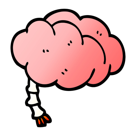 vector gradient illustration cartoon brain