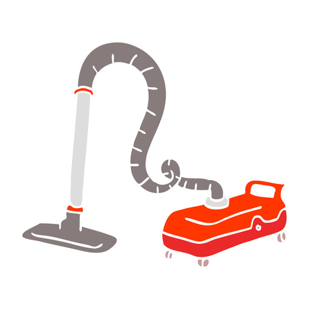 flat color illustration cartoon vacuum hoover Reklamní fotografie - 110423404