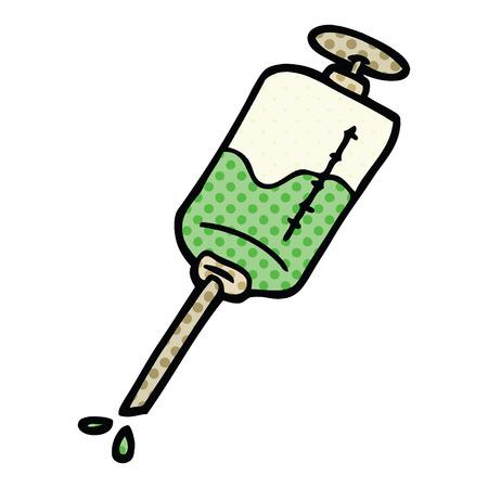 comic book style cartoon injection Ilustrace