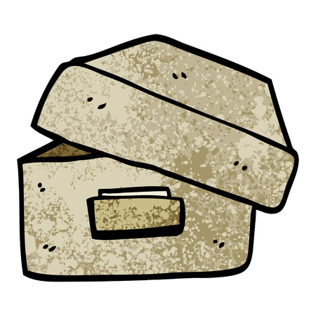 grunge textured illustration cartoon old filing box Stok Fotoğraf - 110364821