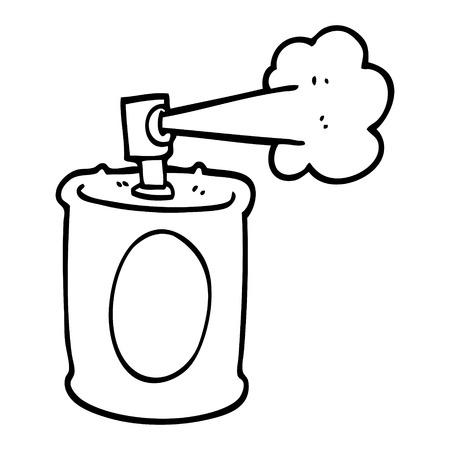 bombe aérosol de dessin animé noir et blanc Vecteurs