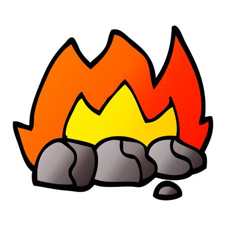 vector gradient illustration cartoon burning coals