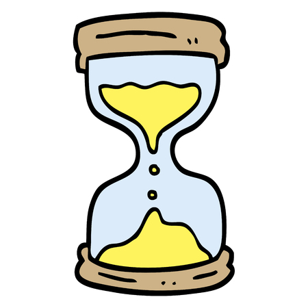 hand drawn doodle style cartoon hourglass