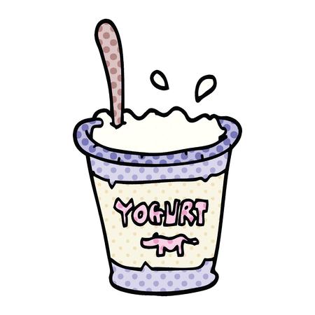 comic book style cartoon yogurt