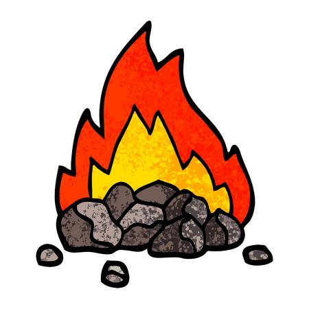 grunge getextureerde illustratie cartoon brandende kolen
