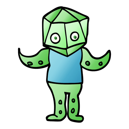 vector gradient illustration cartoon weird alien Ilustrace