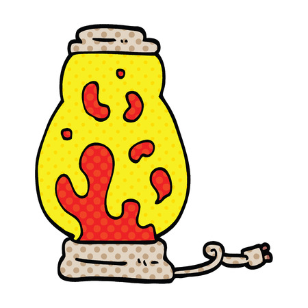 comic book style cartoon lava lamp Illustration