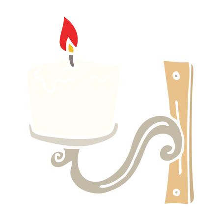 flat color illustration cartoon old candle holder