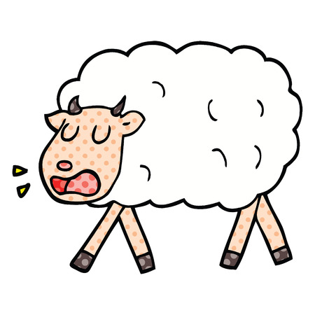 comic book style cartoon sheep