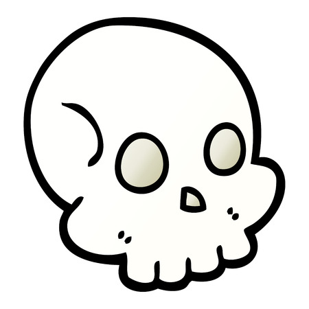 vector gradient illustration cartoon skull Illusztráció