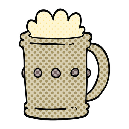 comic book style cartoon beer tankard Ilustrace