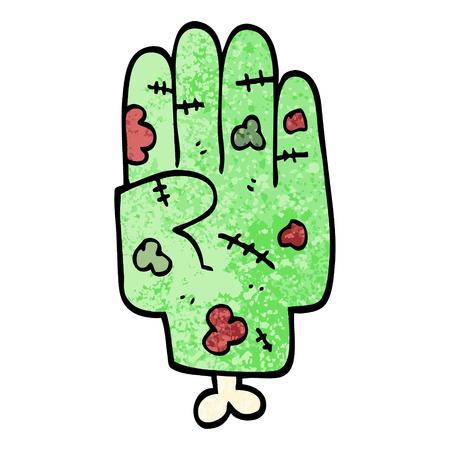 grunge textured illustration cartoon zombie hand  イラスト・ベクター素材