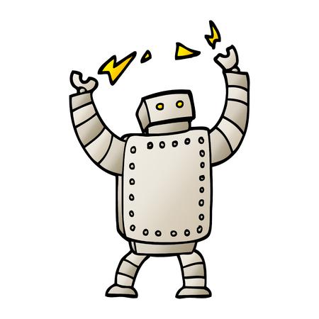 vector gradient illustration cartoon giant robot Ilustração