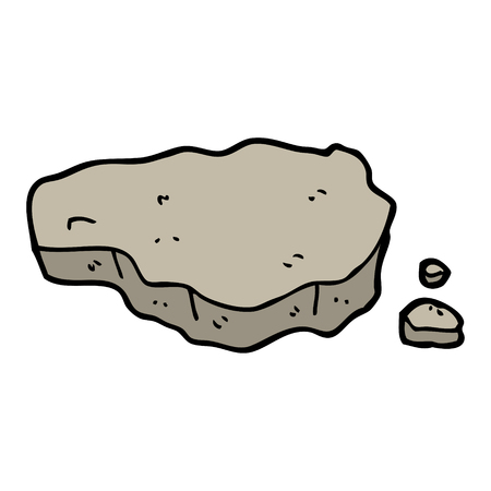 hand drawn doodle style cartoon old rock