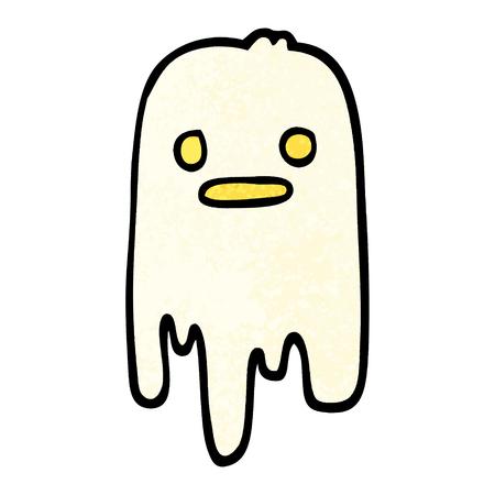grunge textured illustration cartoon spooky ghost
