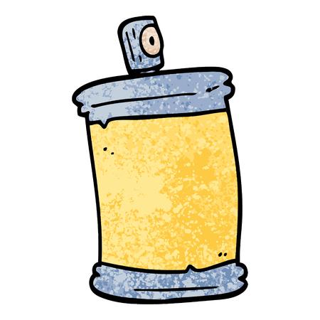 grunge textured illustration cartoon spray can Ilustracja