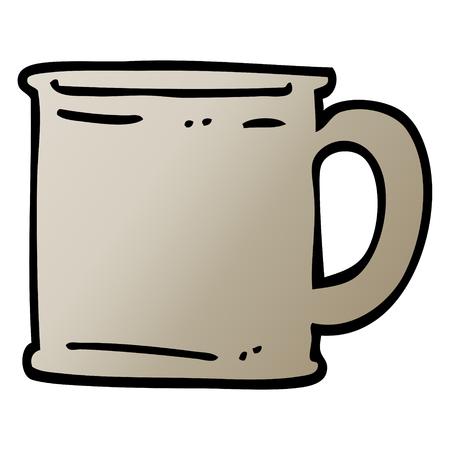 vector gradient illustration cartoon tankard