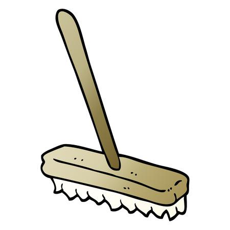 vector gradient illustration cartoon sweeping brush